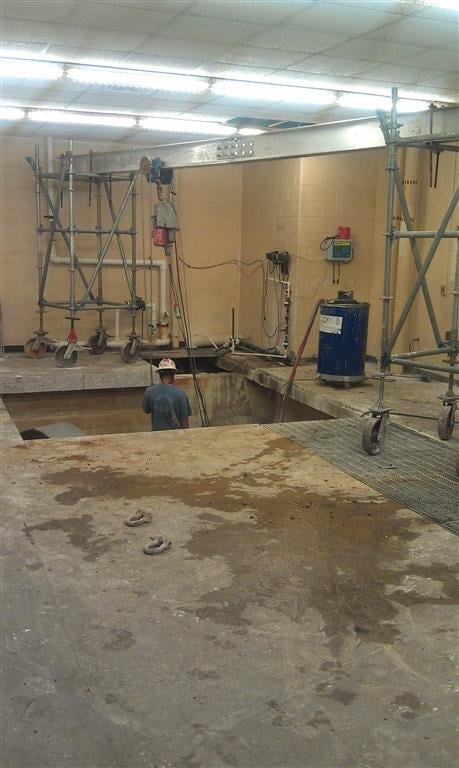 Below Ground Concrete Wall Demolition and Removal -