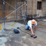 Operator scanning concrete