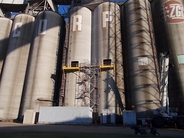 wire sawing concrete silo