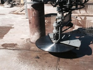 Steel pile cutting