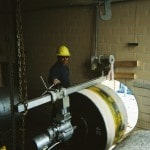Picture of core drillng through a wall