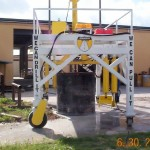 Large diameter core drill rig