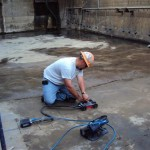 Scanning a concrete slab