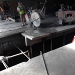 Concrete cutting structural slab