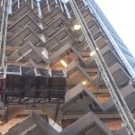 Precast slab removal from highrise (2)